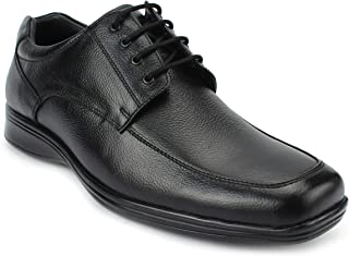 AvantHier Black Lace up Glossy Look Official Genuine Leather Formal Shoes for Men/Boys