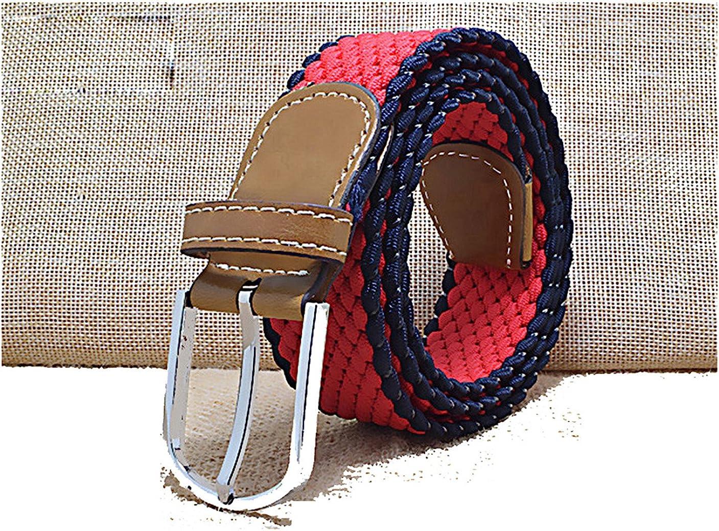 WSHINE Striped Kids Braided Adjustable Stretch Belt with Buckle Closure