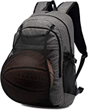 Sports Basketball Backpack with Ball Net and USB Port for Boy Laptop Bag