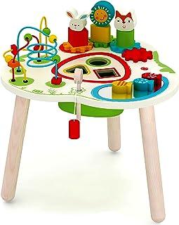 Mesa de centro de actividades de madera, aventura