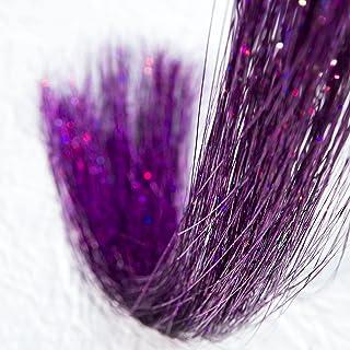 Przedłużanie włosów 200 pasm holograficzna lśniąca pęseta do włosów brokatowe przedłużanie olśniewające 113 cm długości na...