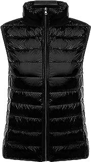 Womens Slim Packable Lightweight Quilted Short Puffer Down Vest Waistcoat