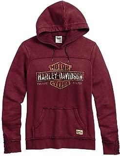 HARLEY-DAVIDSON Women's Genuine Pullover Hoodie, Red