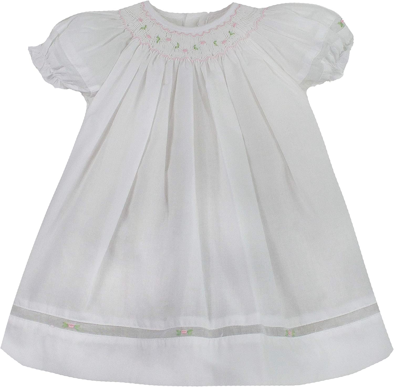 Petit Ami Washington Mall Baby Girls' Smocked Daygown Popular products Voile Insert with
