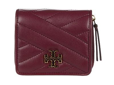Tory Burch Kira Chevron Bifold Mini Wallet (Imperial Garnet) Handbags