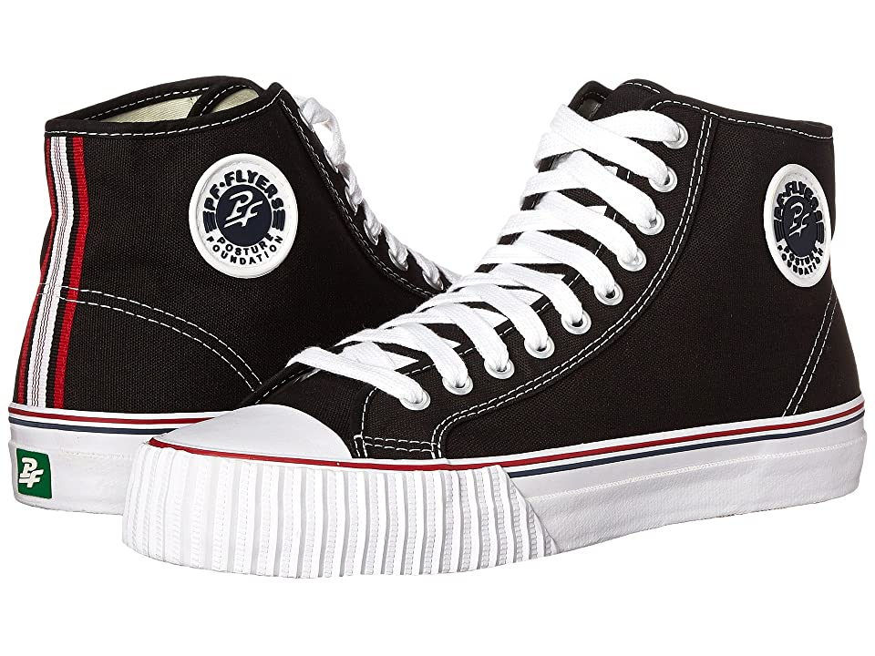 PF Flyers Center Hi Re-Issue (Black Canvas) Classic Shoes