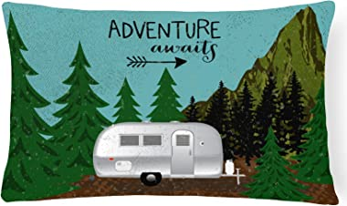 Caroline's Treasures VHA3022PW1216 Airstream Camper Adventure Awaits Canvas Fabric Decorative Pillow, Multicolor, 12Hx16W