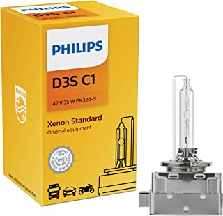 Philips 42302C1 D3S Standard Authentic Xenon HID Headlight Bulb, 1 Pack