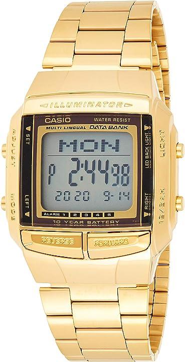 Orologio casio collection db-360n orologio digitale con cinturino in acciaio inox DB-360GN-9AEF