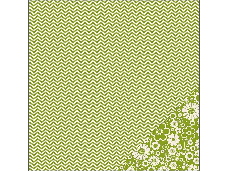 Pebbles Basics Paper 12x12 Leaf Chevron