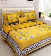 xtore YB Traditional Jaipuri Print King Size Double Bed Sheet with 2 Pillow Covers (100% Cotton) - Premium Quality