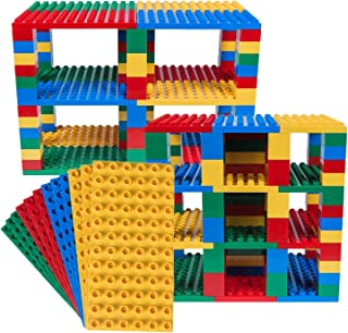 Strictly Briks Classic Big Briks 96 Piece Set 100% Compatible with All Major Brands   Tower Construction   Large Pegs for Toddlers   Ages 3+   Building Bricks & Baseplates   Basic Colors
