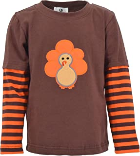 Sponsored Ad - Unique Baby Unisex Layered Thanksgiving Turkey Shirt