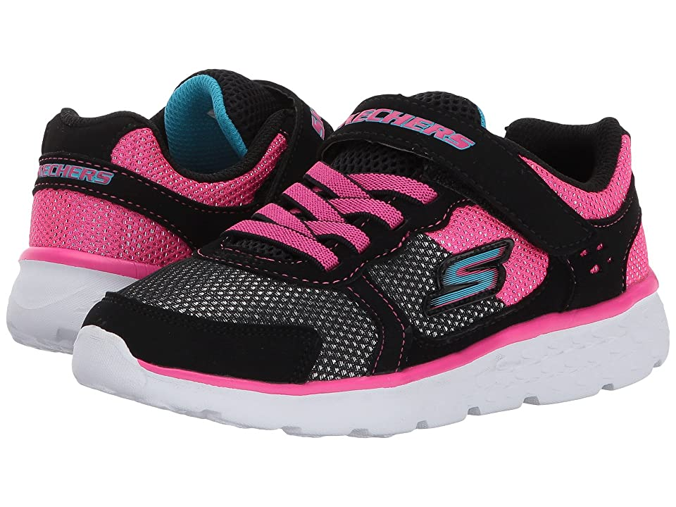 SKECHERS KIDS Go Run 400 (Little Kid/Big Kid) (Black/Hot Pink) Girl