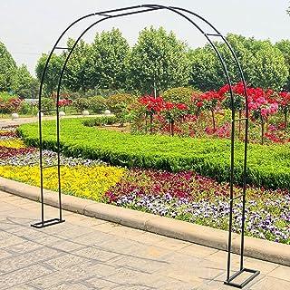 パーゴラ 組立 キッ花园拱ガーデンアーチ玫瑰拱金属花弧 花园拱廊 室内、室外、庭院、草地、后院、阳台、组装简单、经久耐用