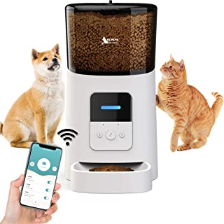OZ PETS SAFE CHIOCE Automatic CAT and DOG Feeder,Programmable Portion Control,Up to 15 Meals per Day & 10s Voice Recorder,...