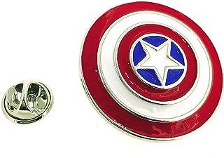 Gemelolandia   Pin de 3,5 cm Escudo Capitan America   Broches Exclusivos Para Detalles y Regalos Únicos y Especiales