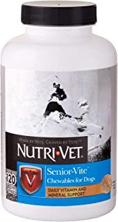 Nutri-Vet Multi-Vite Chewables for Senior Dogs | Formulated with Viatimins & Minerals to Support Balanced Diet | 120 Count