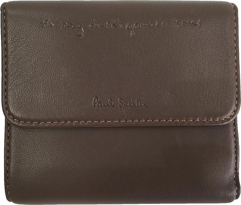 厚くする避難テンションポールスミス PaulSmith 二つ折り財布 ラムレザー マルチラム トープ レディース(専用箱なし)