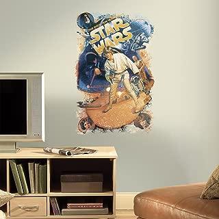 RoomMates RMK3027TB Star Wars Retro Mega Peel and Stick Giant Wall Decals, 22.6