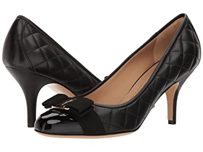 Salvatore Ferragamo 70 mm Carla Pump (Nero/Nero/Nappa Nero) High Heels