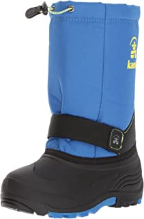 [Kamik] Kids Boys Rocket Fabric Ankle Velcro Rain Boots [並行輸入品]