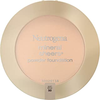 Neutrogena Mineral Sheers Compact Powder Foundation, Lightweight & Oil-Free Mineral Foundation, Fragrance-Free, Soft Beige...