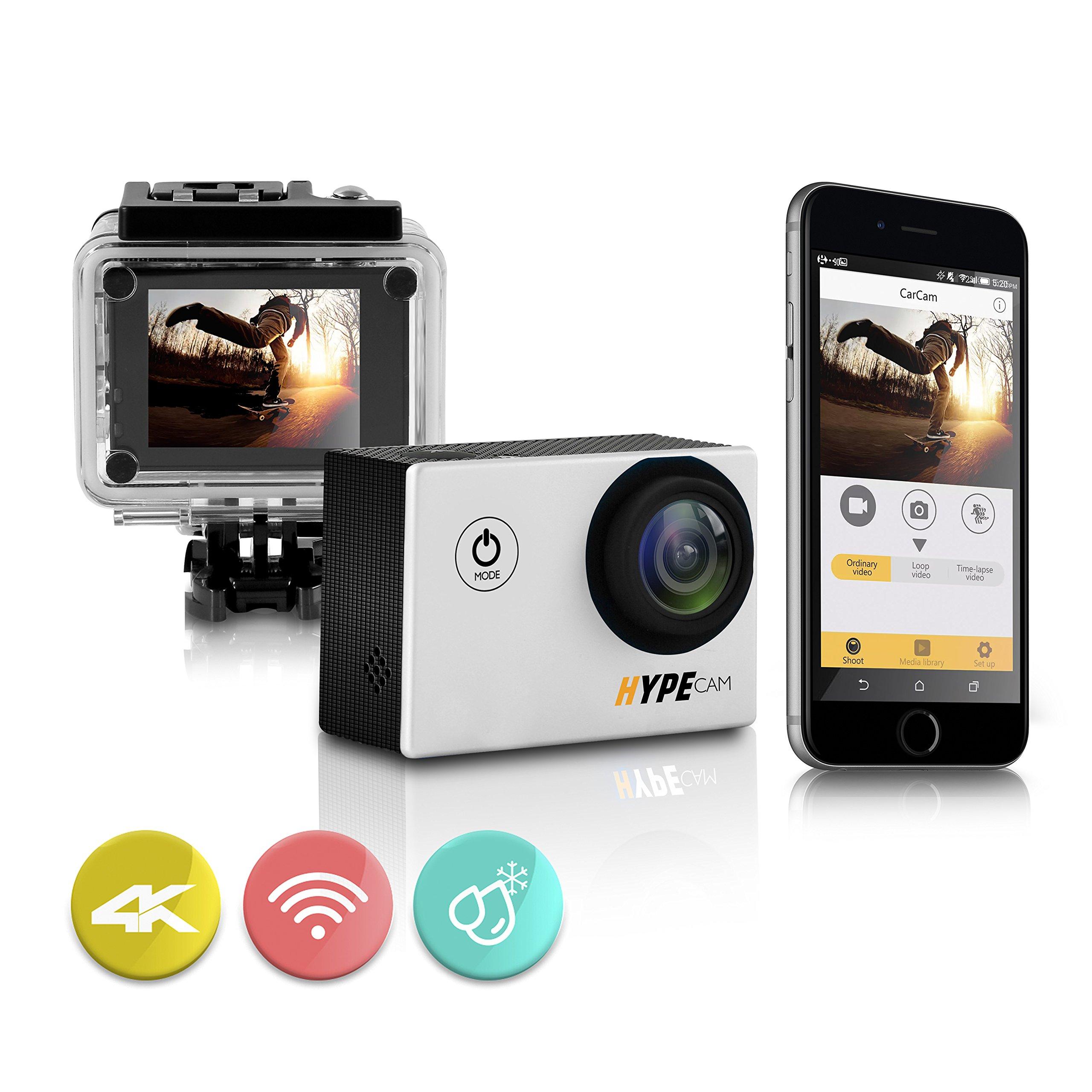 高度なHYPEカメラ - ハイパワーポケットスポーツカメラ - ハイエンド4K HDカメラW / Wi -Fiワイヤレス接続スマートフォン -  2