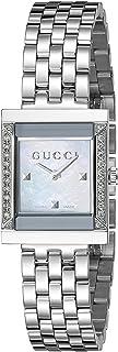 Gucci - YA128405 - Reloj de Cuarzo para Mujer, con Correa de Acero Inoxidable, Color Plateado