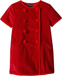 Short Sleeve Double Breasted Button Up Dress (Little Kids/Big Kids)