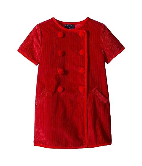 Oscar de la Renta Childrenswear Short Sleeve Double Breasted Button Up Dress (Little Kids/Big Kids)