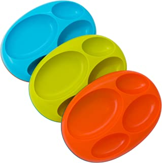 Boon Baby-Boys Platter, Blue/Orange/Green, Pack of 3