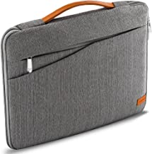 """deleyCON Notebook Laptop Bag up to 17.3"""" (43.94cm) - Shell Made of Robust Nylon - 2 Accessory Compartments and Reinforced Cushioned Walls - Gray"""