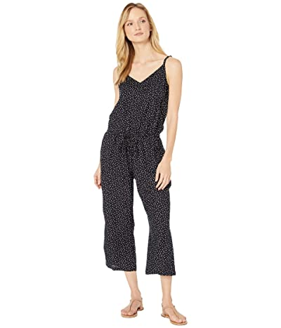 Tommy Bahama Sea Swell Faux Wrap Cropped Jumpsuit with Pockets Cover-Up (Black) Women