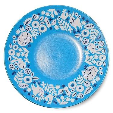 Minoru Touki KUKKA Aqua Blue Diameter 7.9 inches (20 cm) Lightweight Plate φ8.88×H1.2in 13.09oz