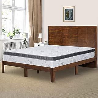 Ecos Living 48 Inch High Headboard Wood Platform Bed Frame with Slats/No Box Spring, King