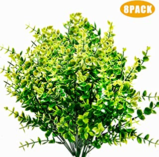 Woaiwo-q Artificial Flowers Artificial Plants Fake Plants Farmhouse Greenery Fake Boxwood for Outdoor Indoor Farmhouse,Home,Garden,Office,Weeding Decor(8 Pack)