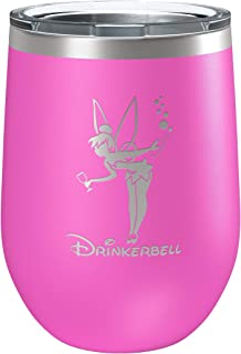 Stainless Steel Wine Tumbler - Fairy Gifts - Drinkerbell - Disney Princess Wine Glass - Funny Birthday - Movie Themed - Fairy tales - Mermaids - Best Friend Couples Birthday Gift - Beach Poolside Cup