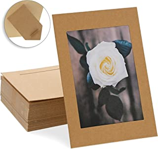 Juvale Cardboard Photo Picture Frame Easel (50 Pack) 4 x 6 Inches, Kraft