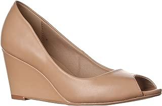 Women's Addie Mid-Height Peep Toe Wedge Pumps