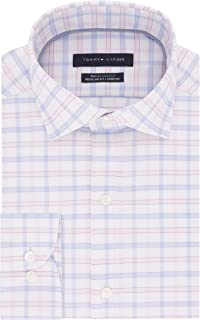 Tommy Hilfiger Men's Dress Shirts Regular Fit Check