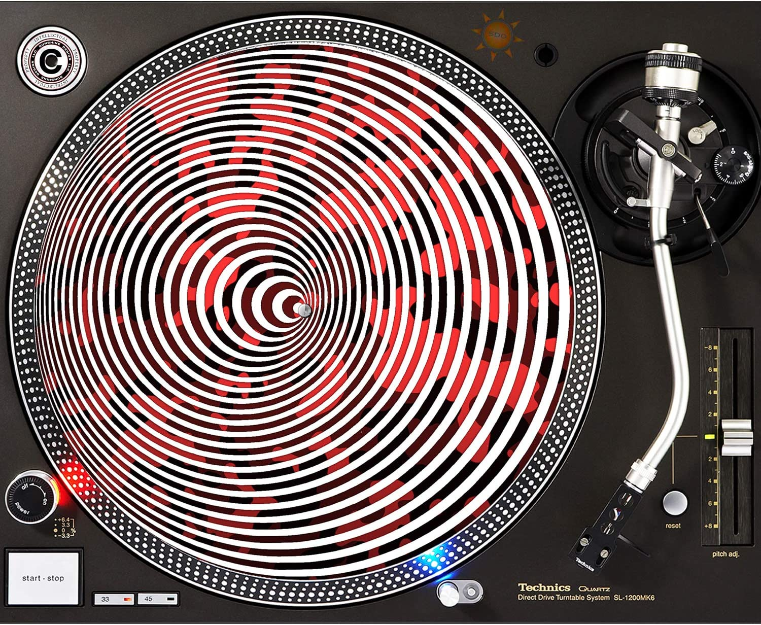 Camoflauge Spiral - DJ In a popularity Popular brand in the world 12 Turntable Slipmat inch