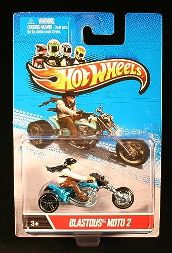 Hot Wheels Blautous Moto 2 (Blau & Schwarz  Motorrad & fürer Ma ab 1 64 2012 Druckguss-fürzeug