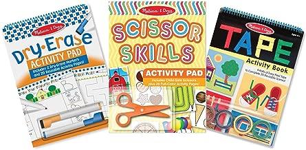 Melissa & Doug Skill-Building Activity Pad 3 Pack -Scissor Skills, Tape Activities, Dry-Erase Fun, Multicolor
