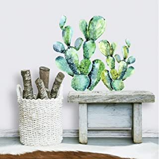 RoomMates Watercolor Cactus Peel And Stick Giant Wall Decals
