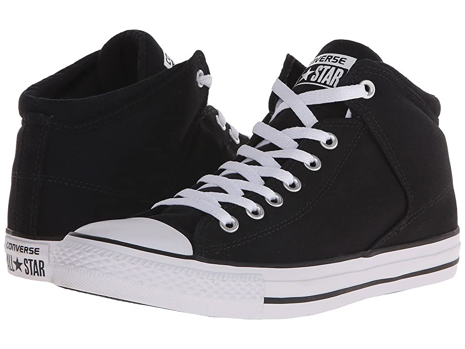 Converse Chuck Taylor(r) All Star(r) High Street Mono Canvas Hi (Black/Black/White) Lace up casual Shoes