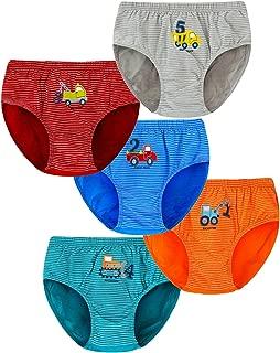 ARAUS Mutandine Boxer da Bimbo Intimo Ragazzi Cotone Confezione da 5 per 2-12 Anni