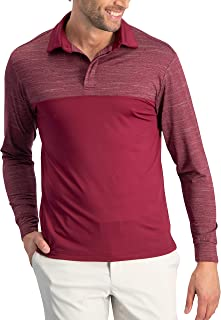 Long Sleeve Polo Shirts for Men - Men's Dry Fit Golf Polos - UPF 30 with 4 Way Stretch