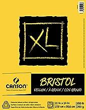 "Canson XL Series Bristol Vellum Paper Pad, Heavyweight Paper for Pencil, Vellum Finish, Fold Over, 11"" x 14"""
