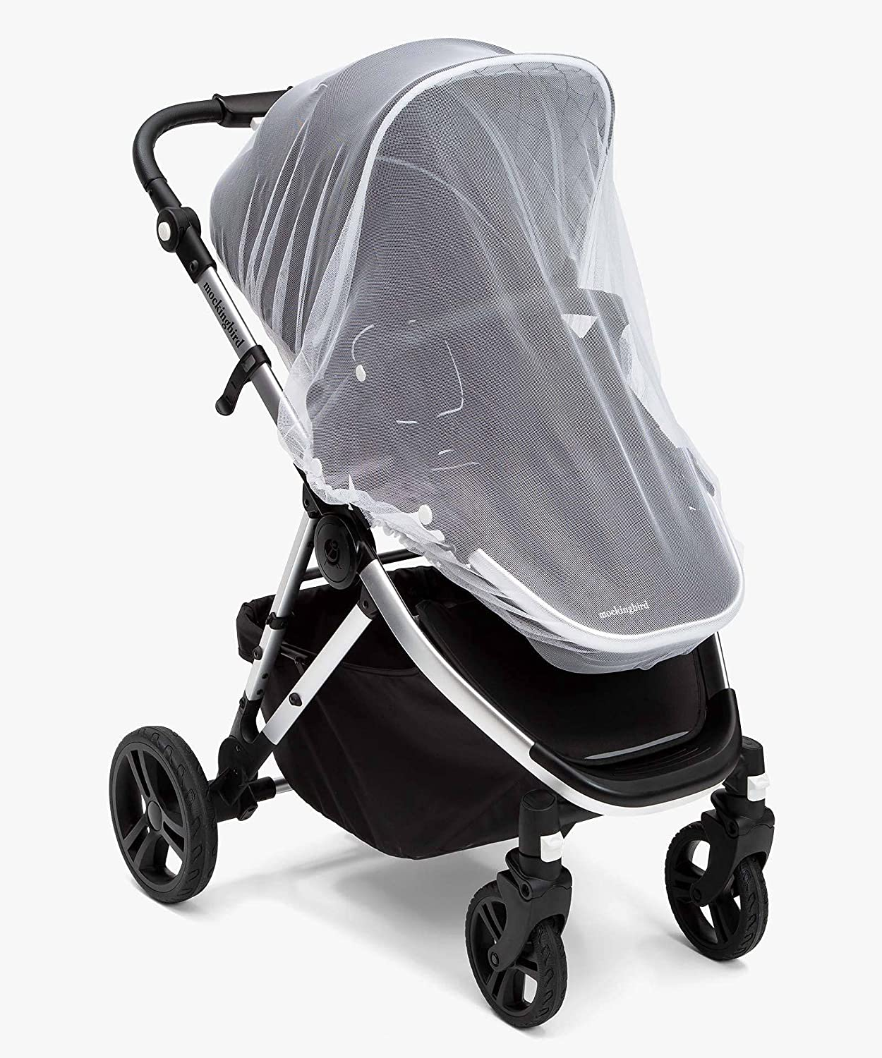 Universal Mosquito Net for Stroller and Car seat,Durable and Breathable Baby Stroller Mosquito Net for Bassinets, Cradles, Playards, Portable Mini Crib(White)